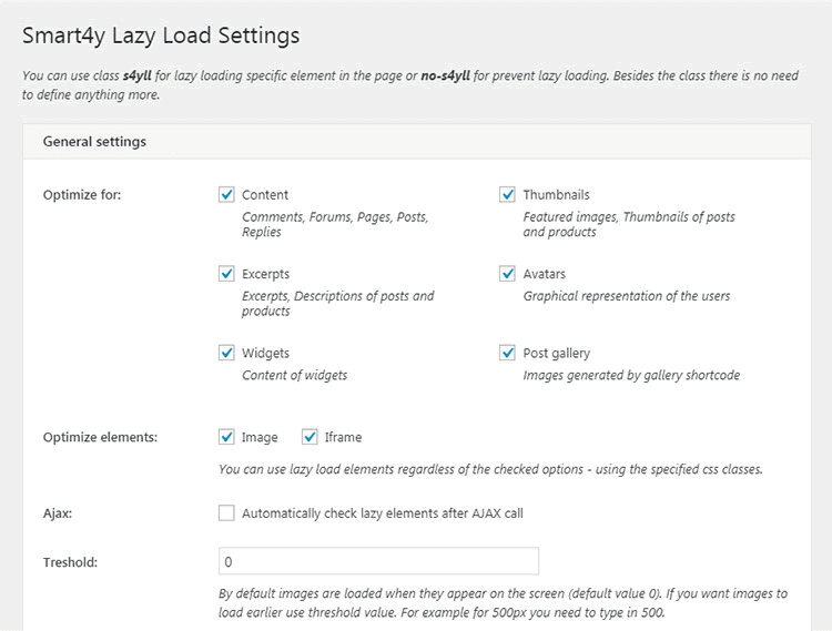 Smart4y Lazy Load Plugin WordPress