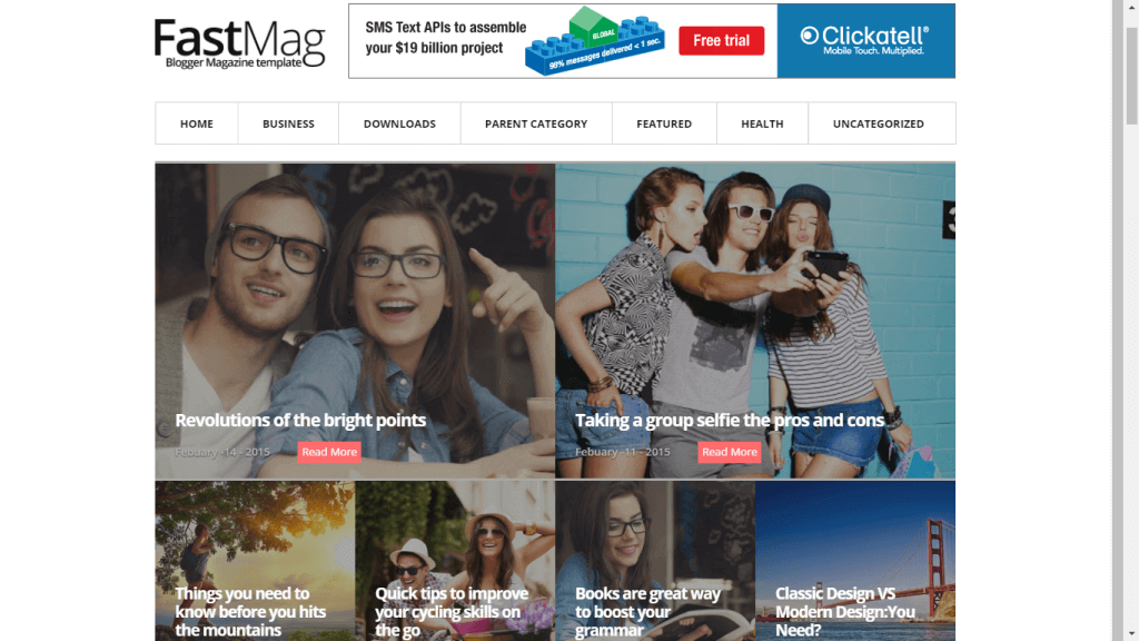 FastMag Blogger Template