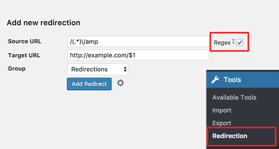 Plugin Redireccion WordPress